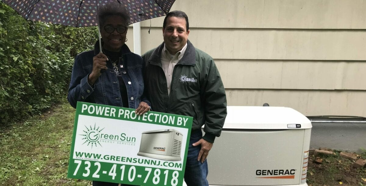 Viola from Springfield, NJ will never be without power again! That's because we installed a 9kW Generac Generator to protect her from unexpected power outages.